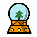 christmas, holiday, snowglobe, winter, xmas icon