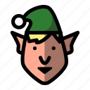 christmas, elf, holiday, winter, xmas icon