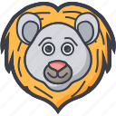 bear, bear face, grizzly, wildlife, zodiac icon