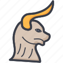 animal, aries, horoscope, taurus, zodiac icon