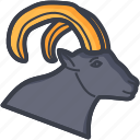 bull, bull head, taurus sign, taurus zodiac, zodiac icon