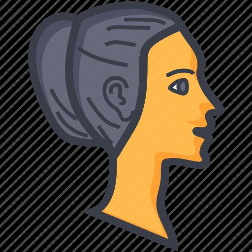 avatar, female, female face, woman face, woman head icon