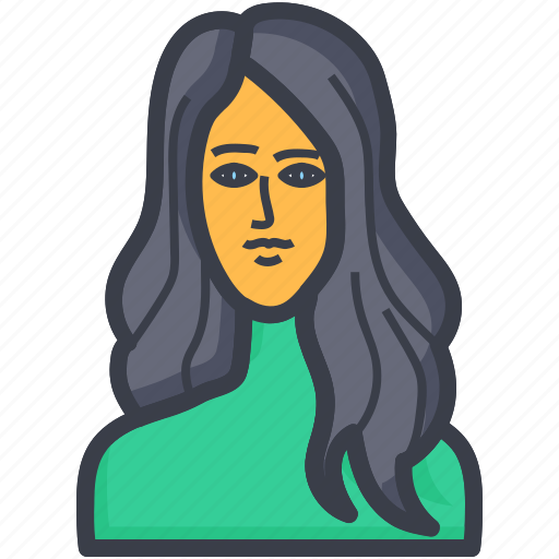 avatar, female, female face, woman face, woman head icon