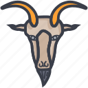 animal, aries, deer, horoscope, taurus icon
