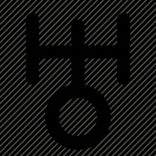 astrology, planet, uranus icon