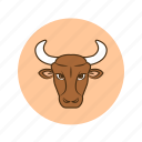 horoscope, predictions, taurus, sign, zodiac, astrology icon