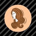astrology, horoscope, predictions, sign, virgo, zodiac icon