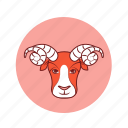 aries, astrology, horoscope, predictions, sign, zodiac icon
