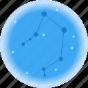 astrology, galaxy, libra, universe icon