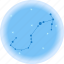 astrology, scorpio, space, telescope icon