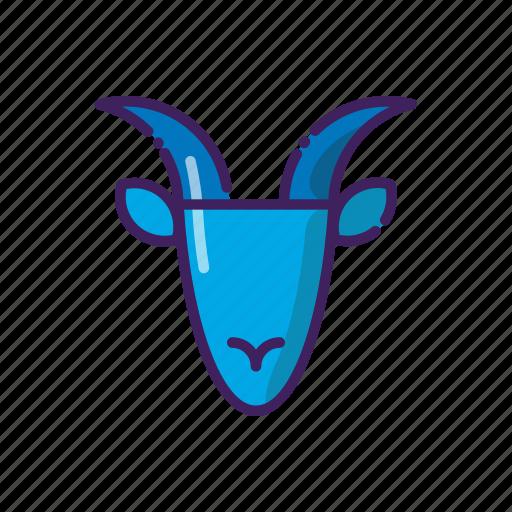 capricorn, horoscope, ibex, line, thin, zodiak icon