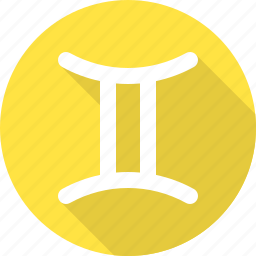 air sign, astrology, fortune, gemini, zodiac icon