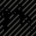 attack, jump, scare, zombie icon