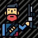 shotgun, zombie, gun, hunter, man