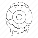 eye, horror, line, outline, scary, thin, zombie icon