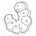 animal, insect, larva, line, maggot, outline, thin icon