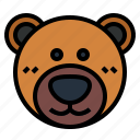 animal, bear, cute, fluffy icon