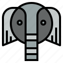 elephant, mammal, wildlife, zoo icon