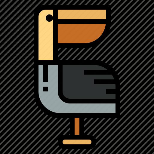 animal, pelican, wildlife, zoo icon