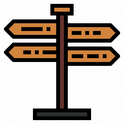 direction, directional, panel, sign icon