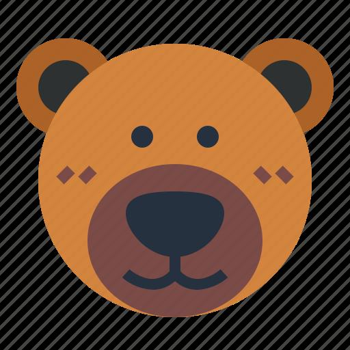 animal, bear, cute, fluffy icon