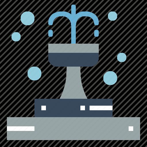 architecture, fountain, park, water icon