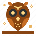 animals, bird, hunter, owl icon