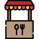food, stand, restaurant, meal, cooking