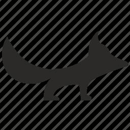 animal, fox, little, predator, toy, wild icon