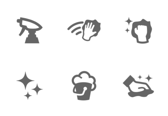 cleaning icons icons by s leonov