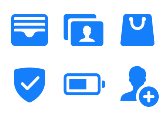 iOS 11 Glyphs icons by