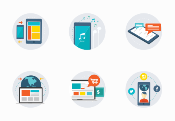 Mobile e commerce icons by tabangris for E commerce mobili