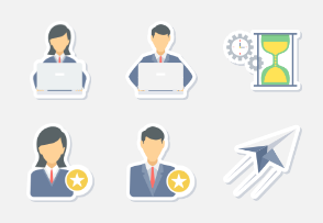 office & business Sticker icons PART -1