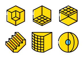 3D GUI - Yellow