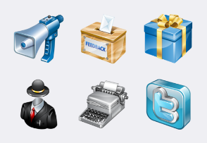 Real Vista Web icons