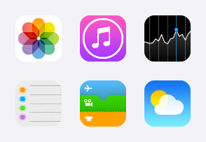 Apple iOS 7 icons