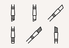 Art & Design - Brushes (outline)
