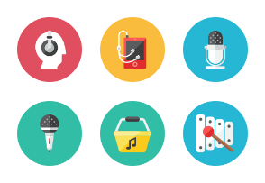 Audio Icons - Rounded
