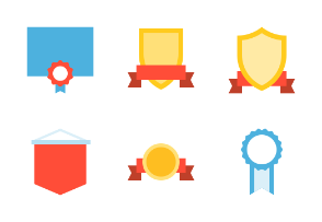 Award badges (flat)