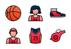 Basketball (Filled Line Gradient)