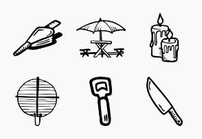 BBQ - Hand Drawn Icons