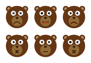 Bear Face Set Volume 2