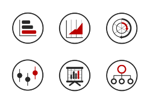 Big Data Flat Icons Collection