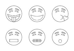 Blinking Smiley Faces