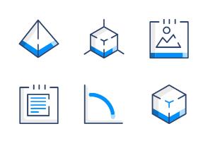 Blue Gem User Interface Set 1