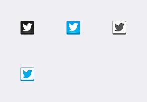 Boxy Twitter Icons