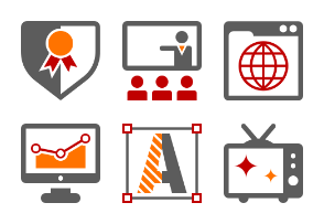 Business and Advertising Agency Icon Set