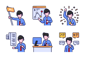 Business and finance character vol1 - filled outline - bukeicon