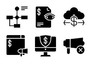 Business and Finance Glyph 22