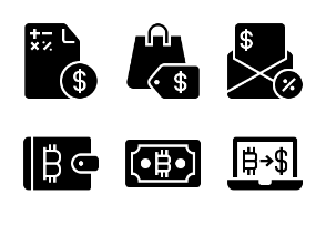 Business and Finance Glyph 24